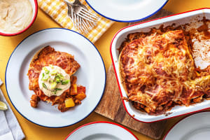 Cheesy Chicken Enchilada Bake image