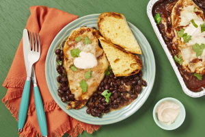 Cheesy Chicken & Spiced Black Beans image