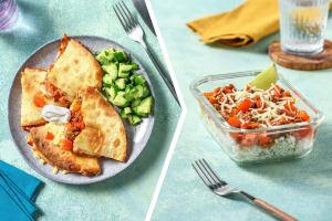 Cheesy Chilli Beef Quesadillas Dinner image
