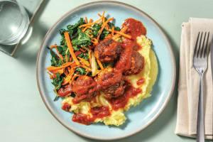 Cheesy Lamb Meatballs & Tomato Sauce image