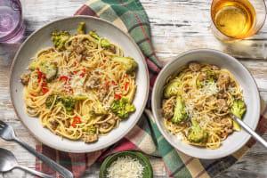 Cheesy Sausage & Broccoli Spaghetti image