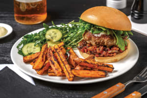 Cheesy Venison & Beef Burger image