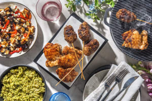 Chermoula Lamb Skewers and Lemon Oregano Chicken image