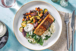 Chermoula Salmon & Garlic Rice image