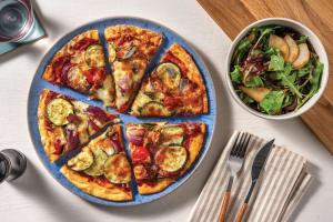 Cherry Tomato, Courgette & Cheddar Pizza image