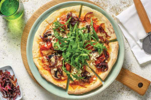 Cherry Tomato & Portabello Mushroom Pizza image
