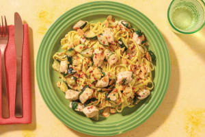 Chicken Alfredo & Fresh Fettuccine with Flaked Almonds image