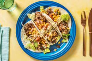 Chicken, Bacon and Blackbean Fajita Tacos image