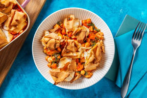 Chicken and Harissa Filo Scrunch Pie image