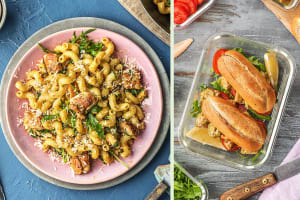 Chicken Thigh and Pesto Pasta Dinner image