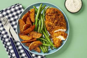 Chicken Cutlets with Spiced Walnut Crust image