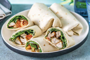 Spiced Chicken & Dill-Parsley Mayo Wrap with Tomato Salad image