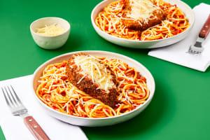 Chicken Parm Over Spaghetti image