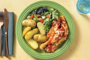 Chicken Parmigiana with Garlic-Herb Potatoes image