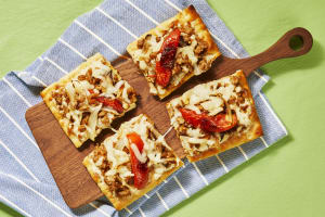 Chicken Sausage & Garlic Flatbreads image