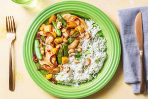 Chicken, Snap Pea and Pineapple Stir-fry image