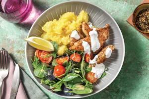 Easy Chicken Tenders & Crushed Lemon Potatoes image