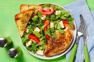 Chicken with Arugula Caprese Salad image