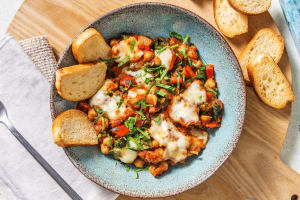 Chickpea, Sweet Pepper and Spinach Shakshuka image