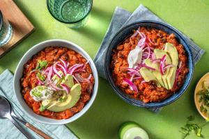 Chili con carne au boeuf et aux haricots noirs image