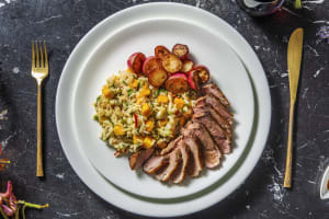 Chinese 5 Spice Duck with Rice and Mango Salad image