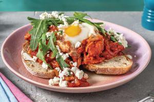 Chorizo, Mushroom & Crumbly Cheese Shakshuka image