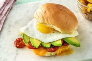 Chorizo, Egg, and Avocado Sandwich image