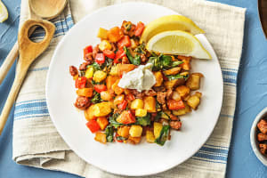 Chorizo-Spiced Kale and Pepper Hash image