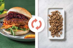 Classic Beef, Venison & Beetroot Relish Burger image