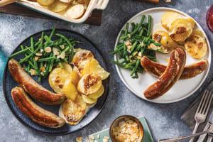 Classic Pork Sausages & Scalloped Potatoes image