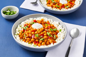 Coconut Curry with Chickpea & Bell Pepper image