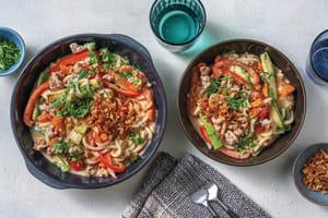 Saucy Sweet Chilli Pork & Udon Noodles image