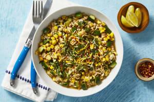 Corn and Zucchini Risotto image