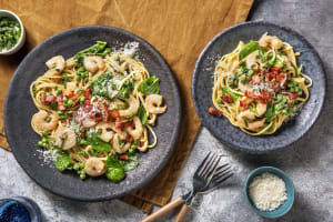Creamy Alfredo-Style Shrimp Linguine image