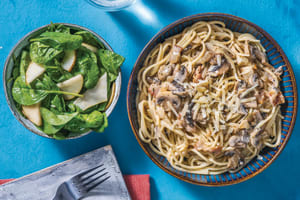 Creamy Bacon & Mushroom Spaghetti image