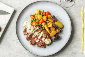 Creamy Bearnaise Rib-Eye Steak image