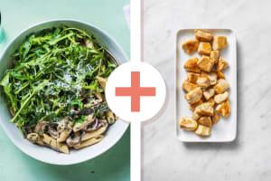 Creamy Mushroom and Chicken Pasta image