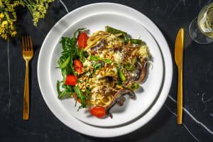 Creamy Mushroom Tagliatelle and Toasted Pine Nuts image