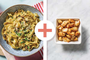 Creamy Chicken, Mushroom & Truffle Fettuccine image