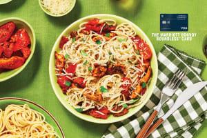 Creamy Parmesan Chicken Spaghetti image