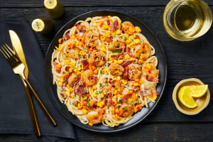 Creamy Shrimp & Bacon Spaghetti image