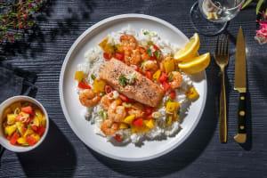 Cajun Salmon and Shrimp image
