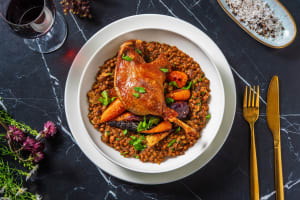 Crispy Confit Duck and Roasted Chantenay Carrots image