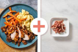 Crispy Skin Chicken Breast with Bacon Lardons image