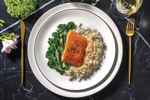 Crispy-Skinned Salmon & Thai Coconut Sauce image