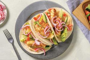 Crumbed Haloumi Tacos image