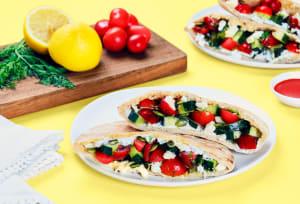 Cucumber Salad-Stuffed Pita Pockets image