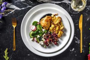 Cuisse de poulet confite et salade d'automne image