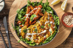 Cumin Chicken and Grilled Carrots image