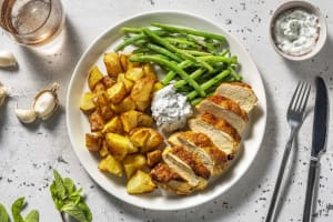 Curried Chicken Breast and Turmeric Roast Potatoes image